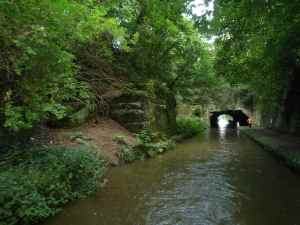 Looking back at the Cowley Tunnel - gives you an idea of the sheer effort expended to cut this canal from the rock