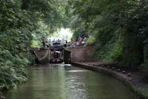 Looking back to Tyrley bottom lock - the photo doesn't capture the half of it- you just have to go there....