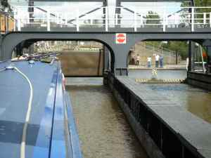 And opening the canal gate in front of us....