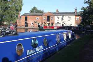 Fradley by day. Doesn't Indigo Dream look good - Richard's polished that side.....