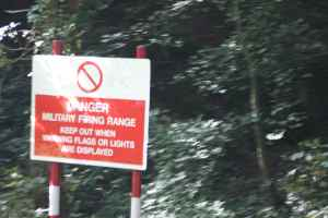 At least this sign is on the offside - shame, the woods did look enticing!