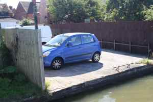 Dodgy parking space!