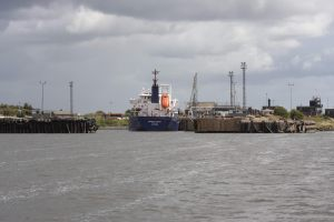 The Mersey Fisher - one of the smaller ships that pass this way...