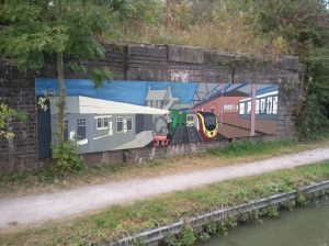 One of many murals along the canal in Rugby