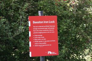 Clear directions at Beeston Iron Lock