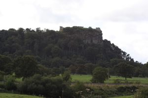The rocky ramparts of Beeston Castle