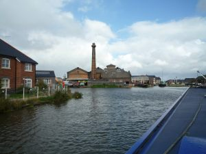 Looking down towards the Ellesmere Port boat museum