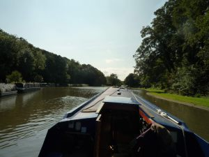 The canal widens attractively between the Saltersford and Barnton tunnels