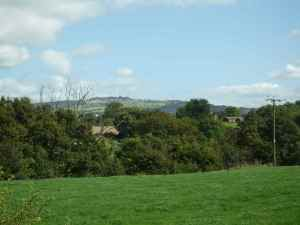 The view over to the Mow Cop