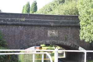 That's the Macclesfield Canal being carried above us on this unassuming aqueduct....