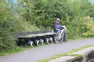 It may all be for towpath users but it is well done - we thought this bench was very smart