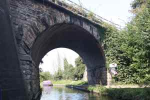 Fine skewed railway bridge