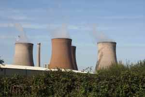 Rugeley power station dominates
