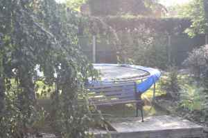 Canalside trampoline - how often do they land in the canal?