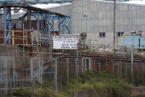 Alarming sign - I wonder if they still load chemicals here - the sign does look a bit battered