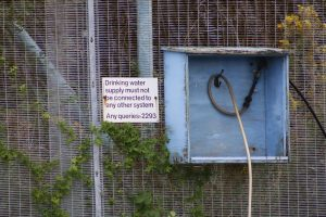 Water point at the chemical works - don't think we'll risk it, thanks.....