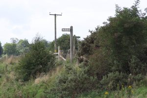 Marker posts for ships approaching a now dimantled swingbridge