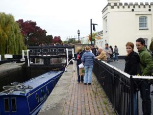 Camdon Lock had really filled up by late afternoon; a perfect opportunity to talk to people about the merits of owning a greyhound.