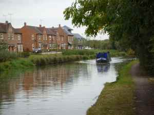 Pleasant canalside developments on the outskirts of Fenny Stratford