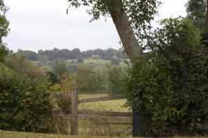 Lovely view from Stoke Hammond lock - there's a very grand castellated house in the distance....
