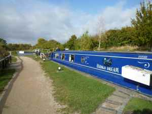 One of the softly scenic Marsworth locks