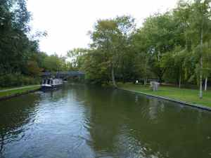 Part of the waterfront approaching Berkhampstead - there are good visitor moorings here