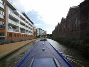 The new developments by Bridge 71 in Wolverton - there are good moorings here if you want a trip to Tesco...