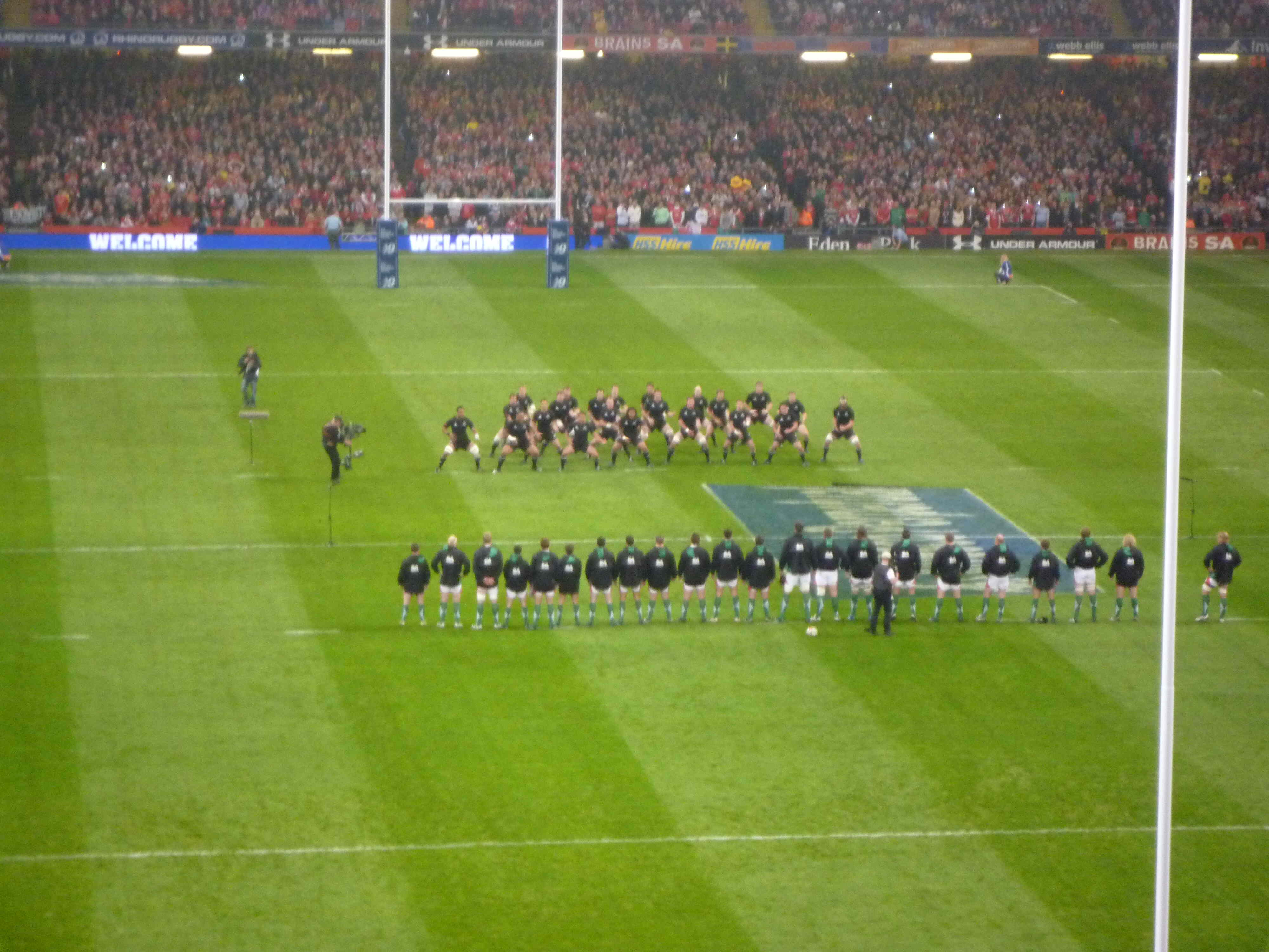 a rugby match!