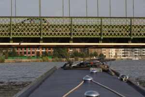Mind your head - Hammersmith Bridge