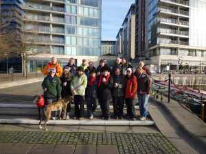 "January: The ""usual suspects"" on the annual narrowboat pilgrimage to the Royal Docks. Sadly this was Lynx's last cruise though we didn't know what tragedy lay ahead when this photo was taken..."