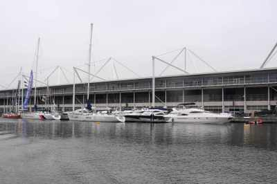 Very few exhibitors' boats outside this year