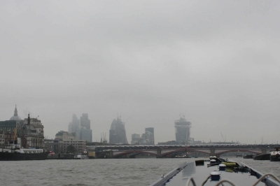 We think that is London emerging out of the fog