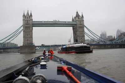 Cool Karolina taking us through Tower Bridge