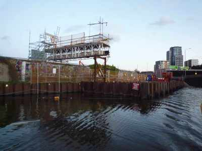 Big works on the towpath near the northern outfall and the path off to Viewtube...