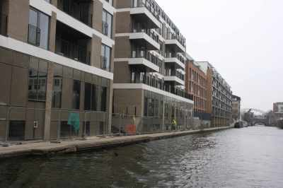 Looming! Many of the new developments seemed to overshadow the canal....