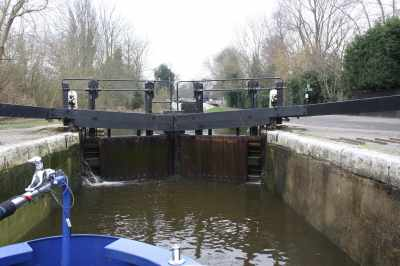 The new lock gates are very fine...