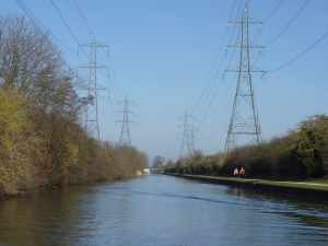 Blue skies and the march of the pylons..