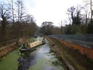 The view from Brookwood Bottom Lock....