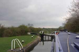 View from the final Marsworth locks - we're passing through the Chilterns now and the scenery is lovely....when you face is not full of hailstones :-)
