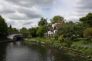 The cottage below Black Jack's lock - it has the best garden :-)