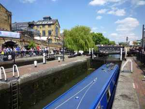 Camden top lock at its busy best....