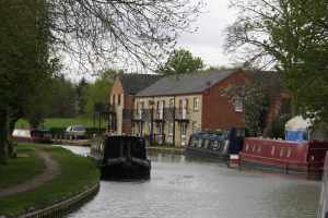 Cosgrove has a fine canal frontage - no wonder it's a popular stop for boaters..