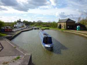 Passing through the Soulbury Three locks