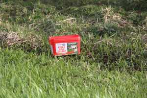The fields here were dotted with red containers - I wondered what they were - no I know, it's a tonic for sheep!