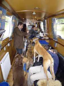See, there's plenty of room - especially when the dogs are clustered around for sausages :-)