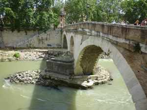 The oldest bridge in Rome - built in 62BC - and no doubt maintained since...