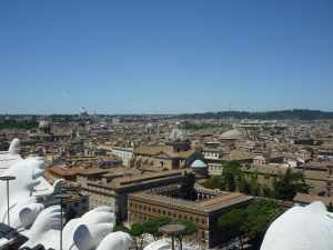 "View from the top of the ""elevator"" - Rome is also a city of domes...."