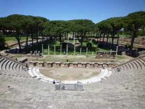 Roman theatre in Ostia Antica...