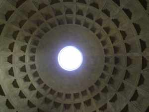 The Oculus that shines a mysterious light on the Pantheon..