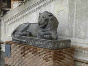 Disconsolate Egyptian lion in Vatican City...
